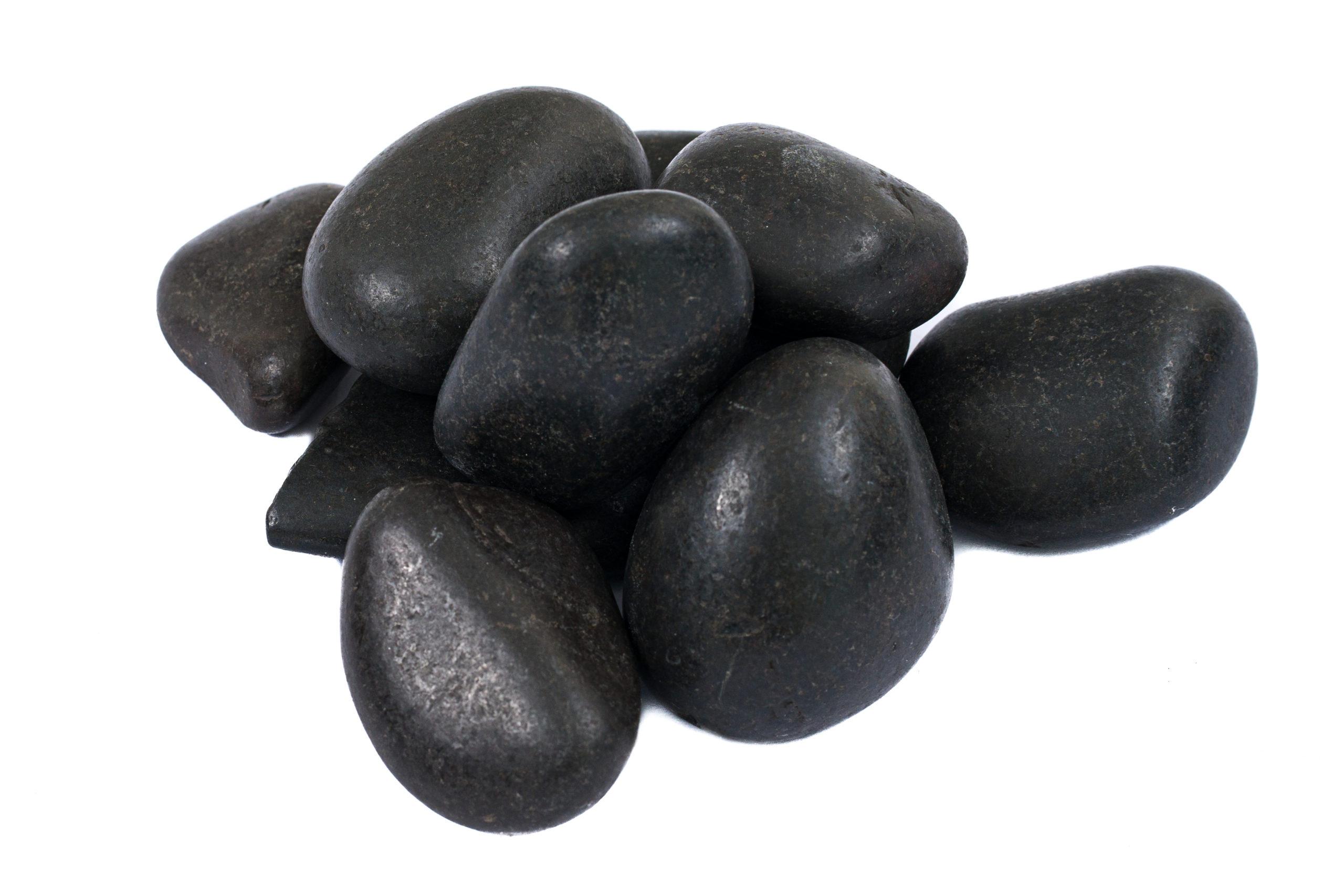 Fekete polírozott kavics